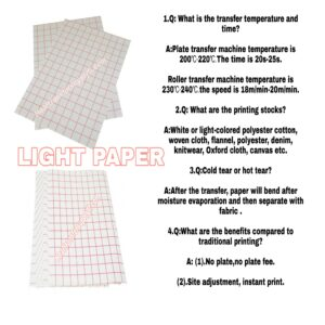 Heat transfer papers red grid